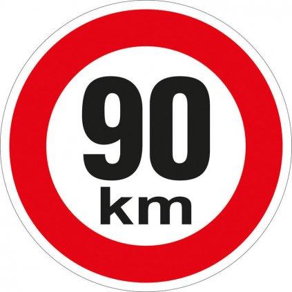 Značka rychlosti retroreflexní 90 km/h