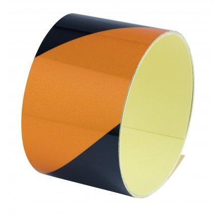 Samolepící šrafovací páska žluto-černé pruhy, délka 1,5m