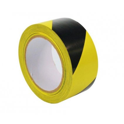 Páska šrafovaná - žlutočerná, 50mmx33m, samolepící