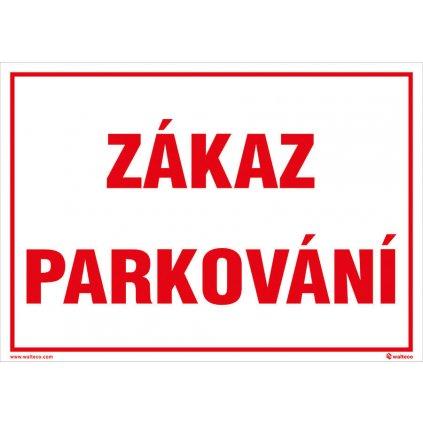 Plast zákaz parkování