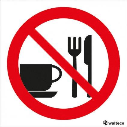 Zákaz vstupu s jídlem 90x90mm, samolepka
