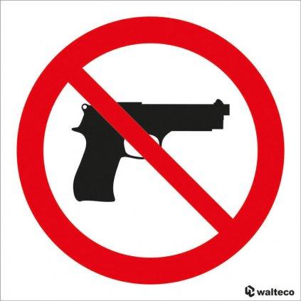 Zákaz vstupu se zbraní 90x90mm, samolepka