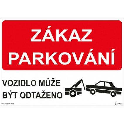 Plast zákaz parkování - odtah 297x210mm, formát A4, plastová tabulka