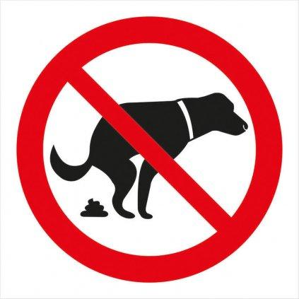 Zákaz venčení psů 92x92mm - symbol, samolepka