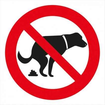 Zákaz venčení psů 150x150mm - symbol, samolepka