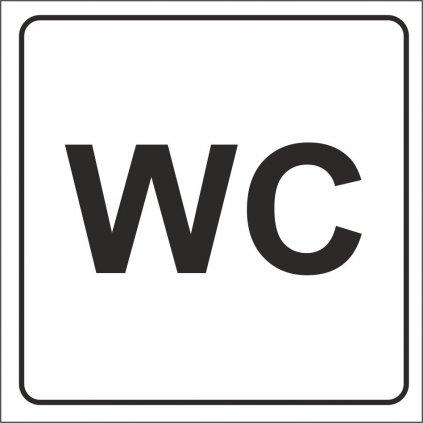 WC, 80x80mm, samolepka
