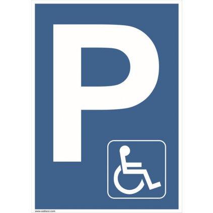 Vyhrazené parkoviště pro invalidy, 210x297mm, formát A4, plast