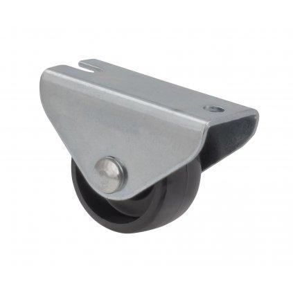 Skříňové kolečko pro měkké podlahy, průměr 25 mm