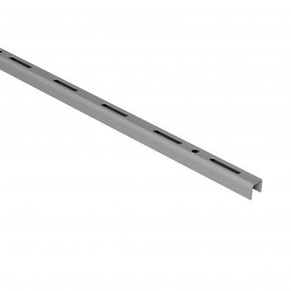 Jednořadá lišta 15x12mm, délka 500mm, stříbrná