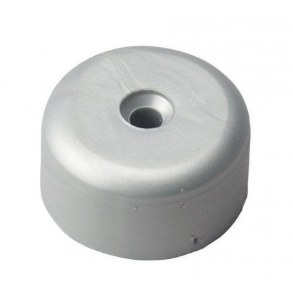 Kluzák, průměr 40, výška 20mm, plast, stříbrný