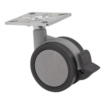 Designové nábytkové kolečko s brzdou, průměr 60 mm