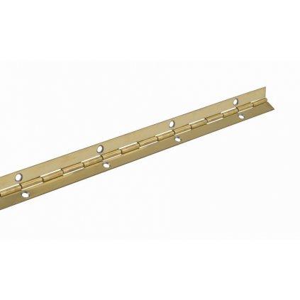 Klavírový závěs 20x1200mm, pomosazený