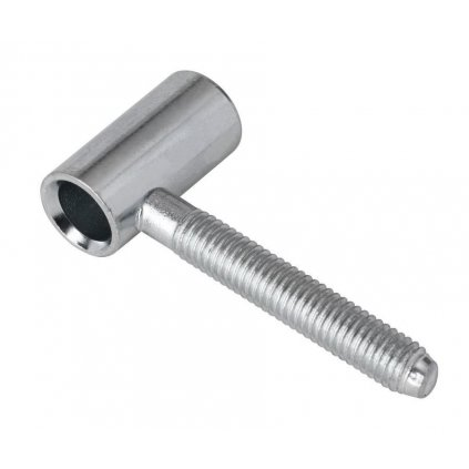 Dveřní závěs 50/10 vrchní díl M8, výška 30 mm, bílý pozink