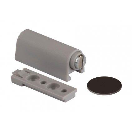 Nábytkový magnet s podložkou, nosnost 3,5 kg, šedý