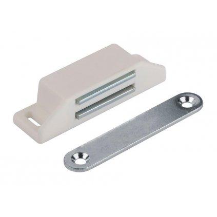 Nábytkový magnet, nosnost 8 kg, bílý, 2 ks