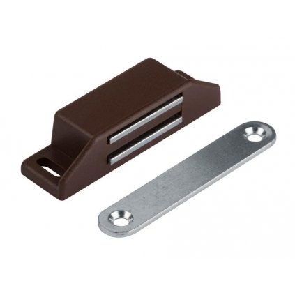 Nábytkový magnet, nosnost 8 kg, hnědý, 2 ks