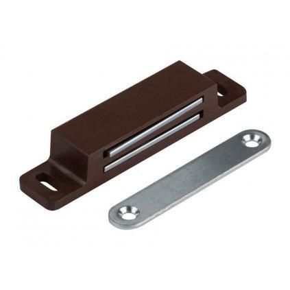 Nábytkový magnet, nosnost 13,5 kg, hnědý, 2 ks