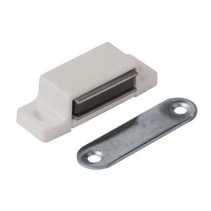 Nábytkový magnet, nosnost 3-4 kg, bílý, 2 ks