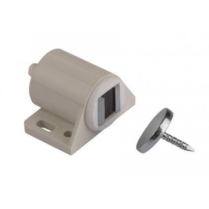 Nábytkový magnet, seřiditelný, 4 kg, bílý, 2 ks