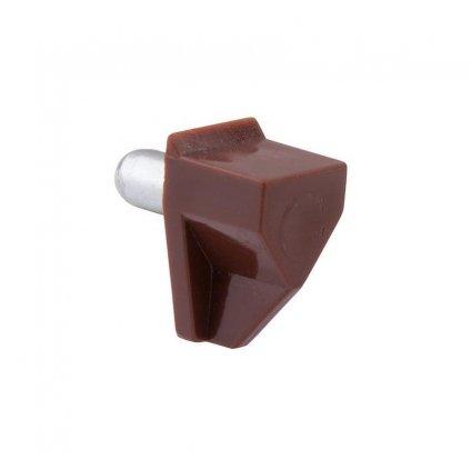 Podpěrka polic Ø 5mm, plast, hnědá, 8 ks
