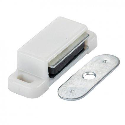 Nábytkový magnet, bílý, 3-4 kg, 2ks
