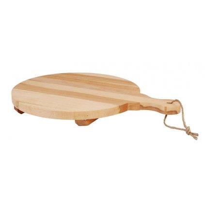Kuchyňské prkénko z bukového dřeva, průměr 300 mm