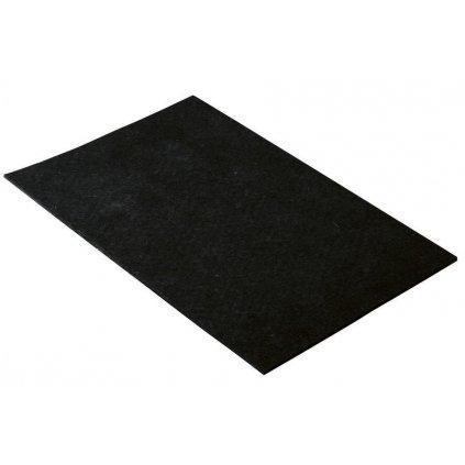 Filcový přířez 200x300mm, samolepící, černý