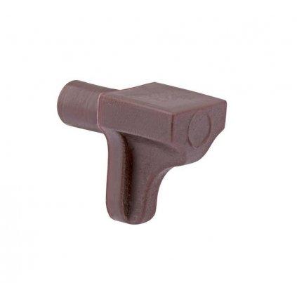 Hnědá plastová podpěrka polic, průměr 5mm, šířka 7 mm, 8 ks