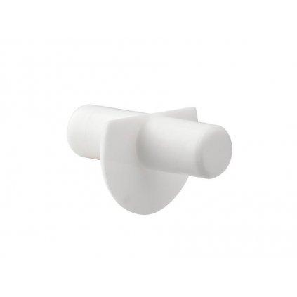 Podpěrka polic s límcem, průměr 5mm, plast, bílá, 8 ks