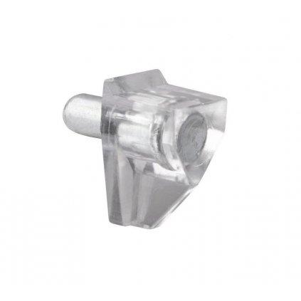 Podpěrka polic Ø 5mm, plast, transparentní, 8 ks