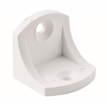 Univerzální úhelník 24x23x23 mm, plast, bílý, 4 ks