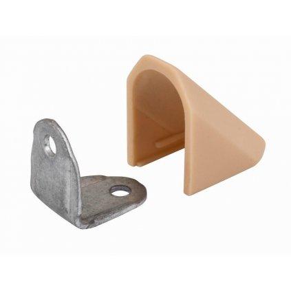 Spojovací úhelník s krytkou, béžový, 2 ks