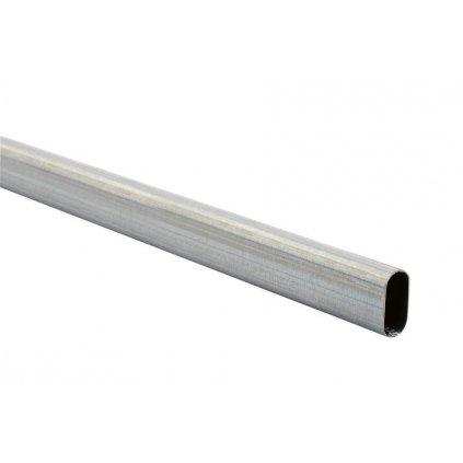 Oválná šatní tyč 1200x30x15mm, pozinkovaná
