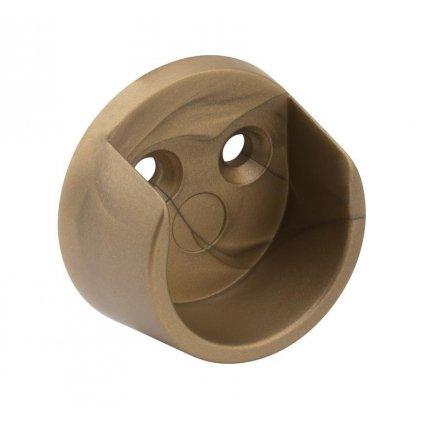 Držák šatní tyče Ø 20mm, plast, zlatá barva, 2 ks