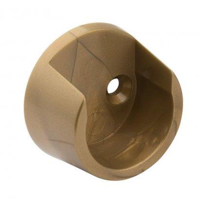 Držák šatní tyče, průměr 25mm, plast, zlatá barva, 2 ks