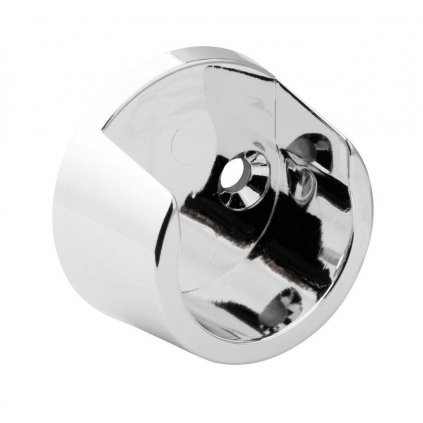 Držák šatní tyče Ø 25mm, plast, chrom, 2 ks