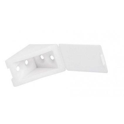 Spojovací úhelník 35x35x25mm, plast, bílý, 1 ks