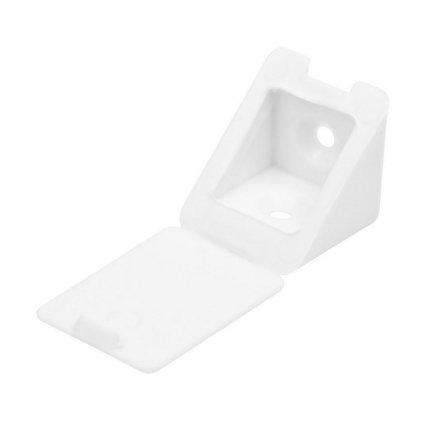 Spojovací úhelník 22x22x23mm, plast, bílý, 20 ks