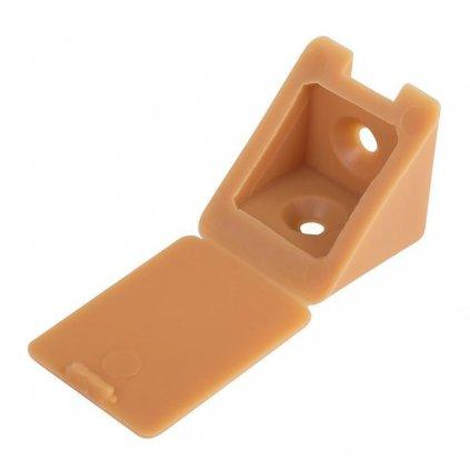 Spojovací úhelník 22x22x23mm, plast, béžový, 20 ks