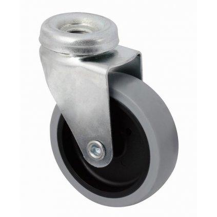 Přístrojové kolečko pro tvrdé podlahy, otočné, Ø 75 mm