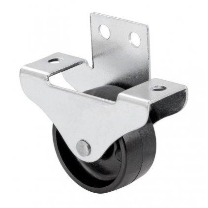 Skříňové kolečko pro měkké podlahy, průměr 40 mm