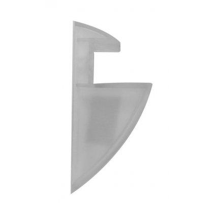 Držák police CLIP 19mm, nosnost 5 kg, plast, šedý