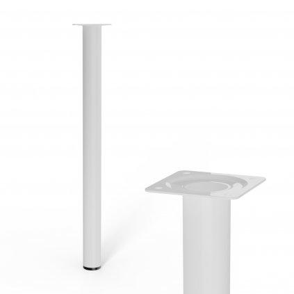 Nábytková noha kulatá, průměr 30mm, výška 400mm, bílá