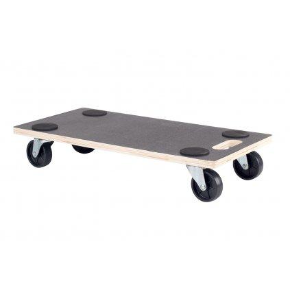 Transportní deska pro tvrdé podlahy, 58x29cm, černá protiskluzová podložka