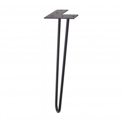 Nábytková noha Hairpin 406 mm, 2-ramenná, černá