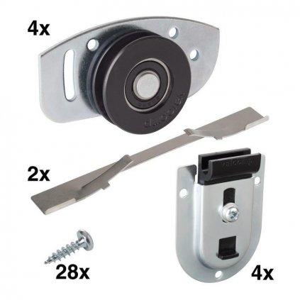 Montážní sada WS 65 pro 2 posuvné dveře, nosnost 70 kg