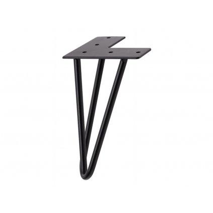 Nábytková noha Hairpin, výška 200 mm, 3-ramenná, černá