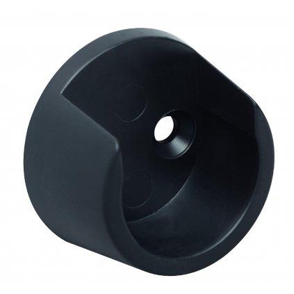 Držák šatní tyče, průměr 25mm, plast, černý, 2 ks