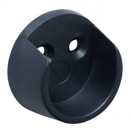 Držák šatní tyče, průměr 20mm, plast, černý, 2 ks