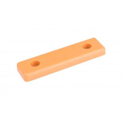 Kluzák podnože 50x14x5mm, plast, béžový, 8 ks